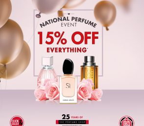 15% off all fragrances at The Perfume Shop