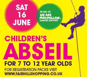 Children's Abseil in aid of Macmillan