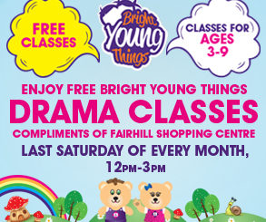 <h2>BRIGHT YOUNG THINGS DRAMA CLASSES!</h2> <p>BYT will be running their award-winning drama classes right in the centre of Fairhill every Saturday..</p>