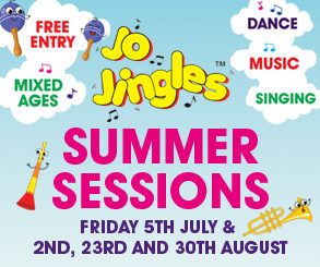 <h2>JO JINGLES SUMMER SESSIONS</h2> <p>Join us for Jo Jingles FREE summer sessions at our kid's corner starting Friday 5th July!</p>