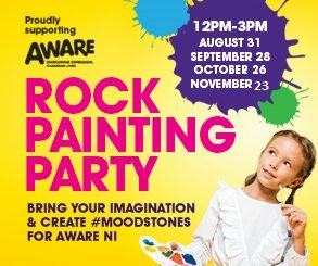 <h2>FAIRHILL ROCK PAINTING PARTY</h2> <p>Join us for our rock painting party; creating #moodstones for our charity of the year Aware NI</p>