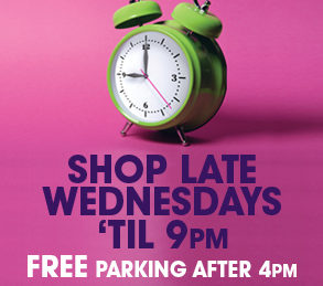 Free parking every Wednesday evening!