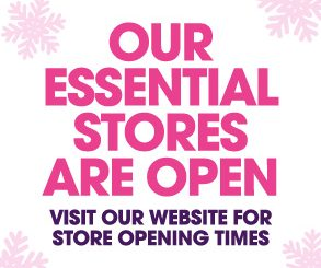 <h2>Essential Retailers</h2> <p>The centre will be open for essential retailers ONLY from Thursday 24th December at 5pm. Read more.</p>
